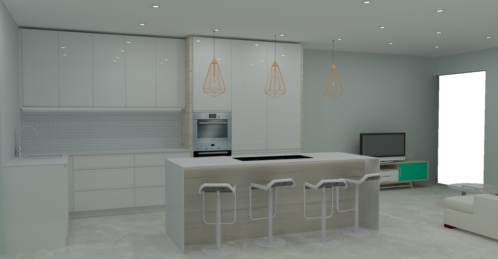 3d kitchen designs in cape town essential kitchens for Small kitchen designs cape town